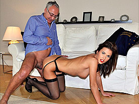 A horny english gentleman porking snatch with solid cock