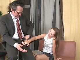 Snezhana worked so hard to pass the xam. Her pusy was stretched by a lustful teacher right in his office.