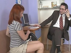Amber is having her sweet and dripping wet holes drilled by a sexually obsessed old teacher.