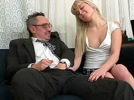 Once tricky old pervy teacher gets his cock out he just knows that his student is going to go for it and end up sucking him off.  He wasn't expec