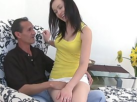 Who better to teach this young babe about fucking and sucking than an older man who has had his fair share of young girls over the years.  If anyone c